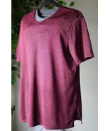 Kathie Lee Collection Women's XL Short Sleeved Top Blouse Shirt Maroon EUC - $9.40
