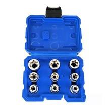 9Pcs 1/2 Plum Hex Socket Set Torx Star E Socket Sleeve Nuts Driver Bits ... - $27.10