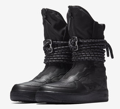 new arrivals 09072 e51f5 Nike Air Force 1 SF AF1 High Special Field Sneakerboots AA1128-002 Black.