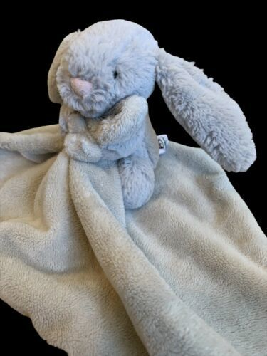 Jellycat Bashful Bunny Security Blanket Lovey Soft Minky EUC - $29.69