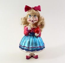 Hand Blown Glass Christmas Ornament of a little Girl  image 6