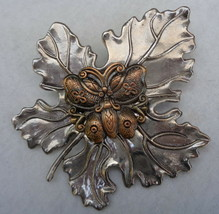 Leaf with Butterfly in Center Sylvan Burch Scarf Clip - $14.99