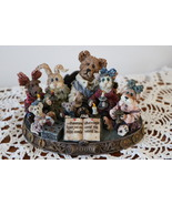 Boyds Bear Resin Bearstone 227805 Bear, Moose, Rabbit, Cat, Dog, Mice Li... - $18.95