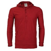 Royal Knights Men's Lightweight Slim Fit Pullover Henley Shirt Hoodie (Small, 08