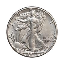 1942 S Walking Liberty Half Dollar - Gem BU / MS / UNC - $50.00