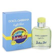 Dolce & Gabbana Light Blue Italian Zest Pour Homme Cologne 4.2 Oz EDT Spray   image 4