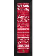 "Personalized Ottawa Senators ""Family Cheer"" 24 x 8 Framed Print - $39.95"