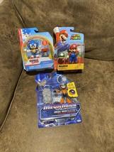 Jakks Pacific 4 Inch Figure Lot Super Mario, Sonic & Megaman New Nintend... - $64.35