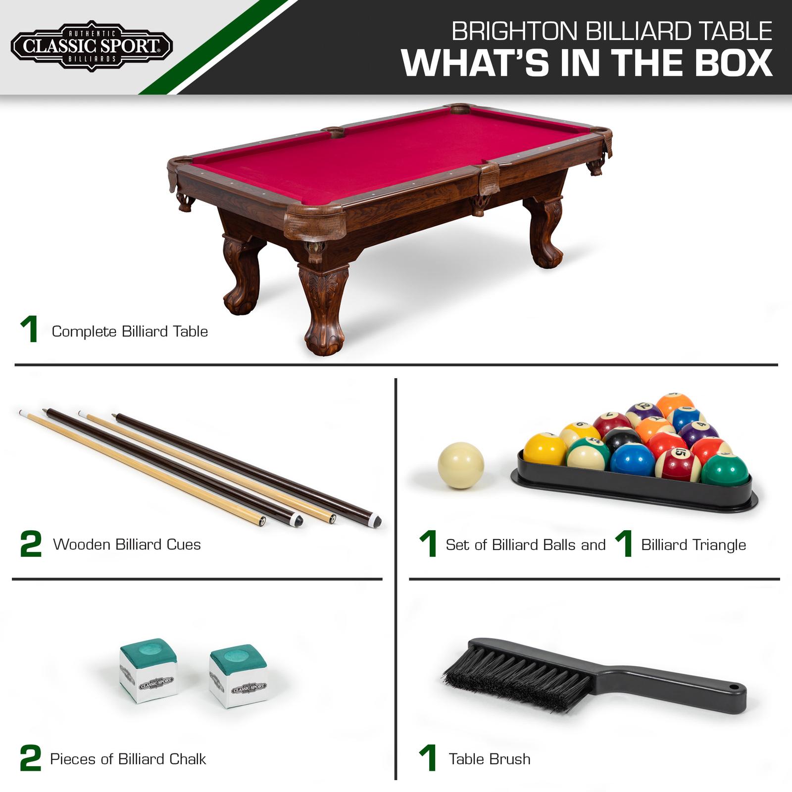 "87"" Billiard Pool Table 8 Ball Cue Stick Bank Shot Break Chalk Scratch Man Cave image 5"