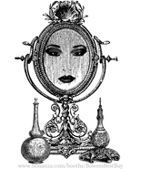 magic mirror womans face printable wall art download clipart digital ima... - $2.99