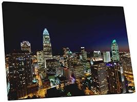 "Pingo World 0706QZ4B4US ""Charlotte Downtown Night Skyline Panoramic"" Gallery Wra - $47.47"