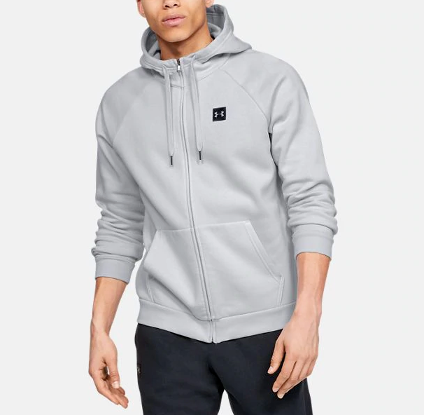 Primary image for Under Armour Men's  Rival Fleece Full-Zip Hoodie NEW AUTHENTIC Grey 1320737-014