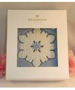 New Wedgwood White &  Blue Jasperware Pierced Snowflake Ornament 2014 - $27.99