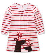 StylesILove Baby Girl Christmas Holiday Striped Print Reindeer Cotton Lo... - $15.99