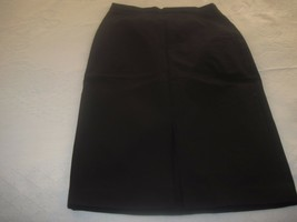 Banana Republic Ladies Black Stretch Pencil SKIRT-6-EXCELLENT-WORN ONCE-SLIT - $11.99