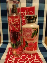 NEW Peony Fine Fragrance Mist & Body Lotion Bath & Body Works Set of 2 BBW - $21.99