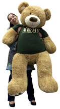 Giant 5 Foot Teddy Bear Wearing Army T-shirt Someone In The Army Loves You - $127.11