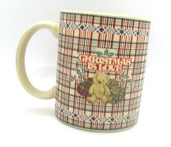 Otagiri Classics Stephen Lawrence 1996 CHRISTMAS IS LOVE Teddy Bear Coff... - $5.93