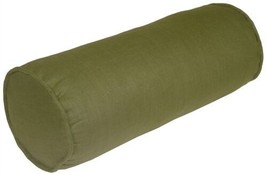 Pillow Decor - Tuscany Linen Fig Green 8x20 Bolster Pillow - $39.95