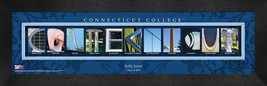 Personalized Connecticut College Campus Letter Art Framed Print - $39.95