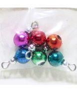 6 Jeweltone Ball Ornaments Christmas dhs4834 Doll House Shoppe Miniature - $5.59