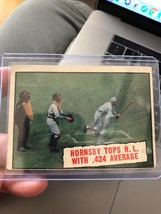 1961 Topps Set Break #404 Rogers Hornsby .424  clean card - $23.52