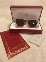 Vintage Cartier Sunglasses Soft Cat Eye Brown Tortoise Frames Gold Accen... - $989.99