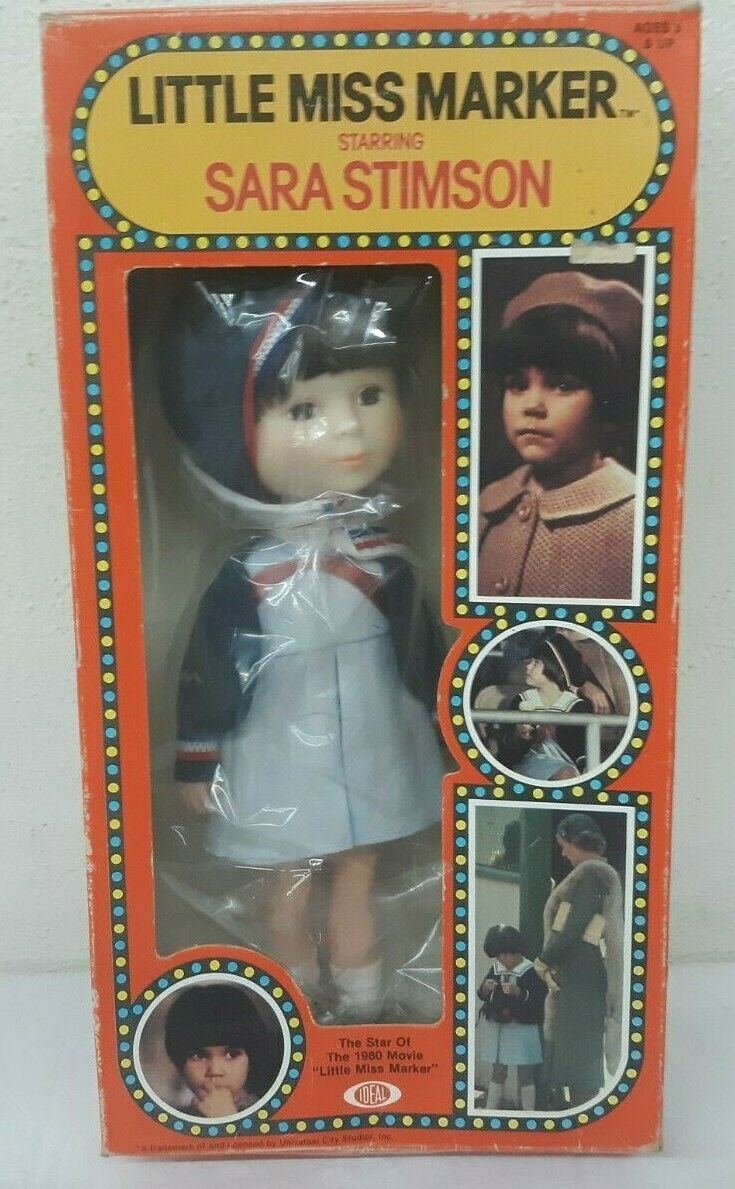 "Primary image for NOS 1980 Ideal Little Miss Marker SARA STIMSON 10"" Doll w Box UNOPENED"