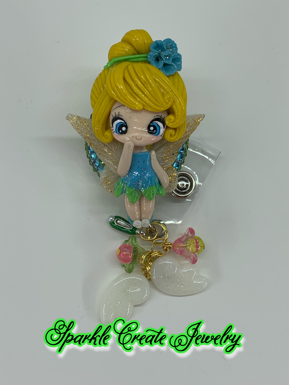 LIMITED EDITION : Tinker Bell Clay Badge Reel
