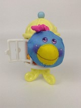 Smooshees Critter Cuddlers Perchy Bird Fisher Price with Cage Vintage 1987 - $14.21