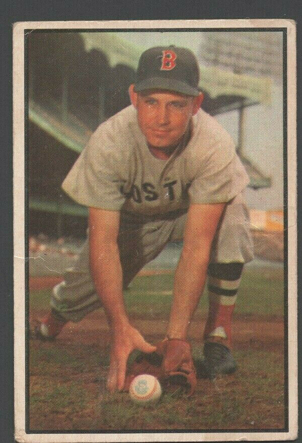Primary image for Boston Red Sox Johnny Lipon 1953 Bowman Color Baseball Card 123 g/vg