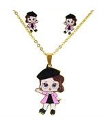 AOUSIX Cartoon  Doll Necklaces Pendants Stainless Steel Golden Plated Ne... - $13.13