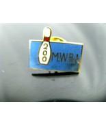 Bowling Award 200 MWBA Vintage Enamel Hat Lapel Pin Back  - $6.88