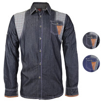 Platini Men's Multi Tone Patch Checkered Casual Button Up Dress Shirt PSL2038