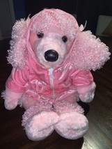 Build A Bear Curly Pink Poodle Plush Stuffed Animal Puppy Dog Perfect Ho... - $23.75