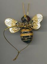 Kubla Enameled Bumblebee. Beautiful! Superb quality !! Cream & Black.  - $14.95