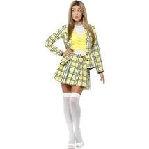Medium Clueless Cher Costume With Yellow Jacket Top & Skirt Knee High So... - £45.90 GBP