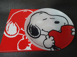 PEANUTS SNOOPY Glass Plate Glass Dish JAPAN Limited - $40.21