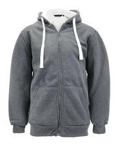 Men's Heavyweight Thermal Zip Up Hoodie Warm Sherpa Lined Sweater Jacket image 6