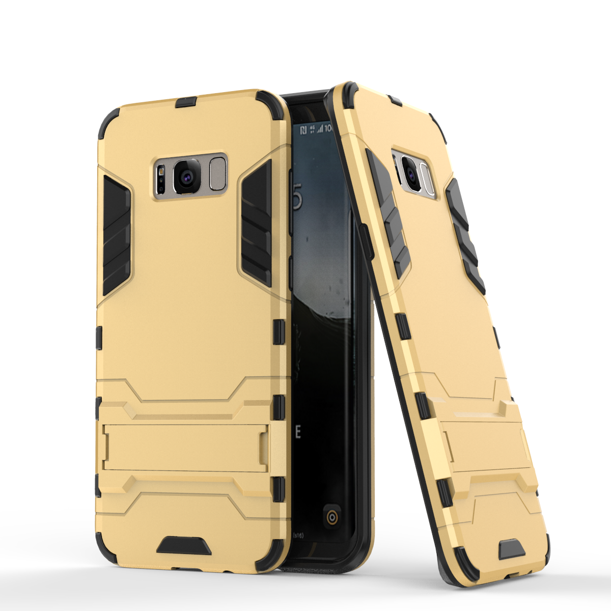 Rmor defender protective case cover with kickstand for samsung galaxy s8 gold p20170327161658650
