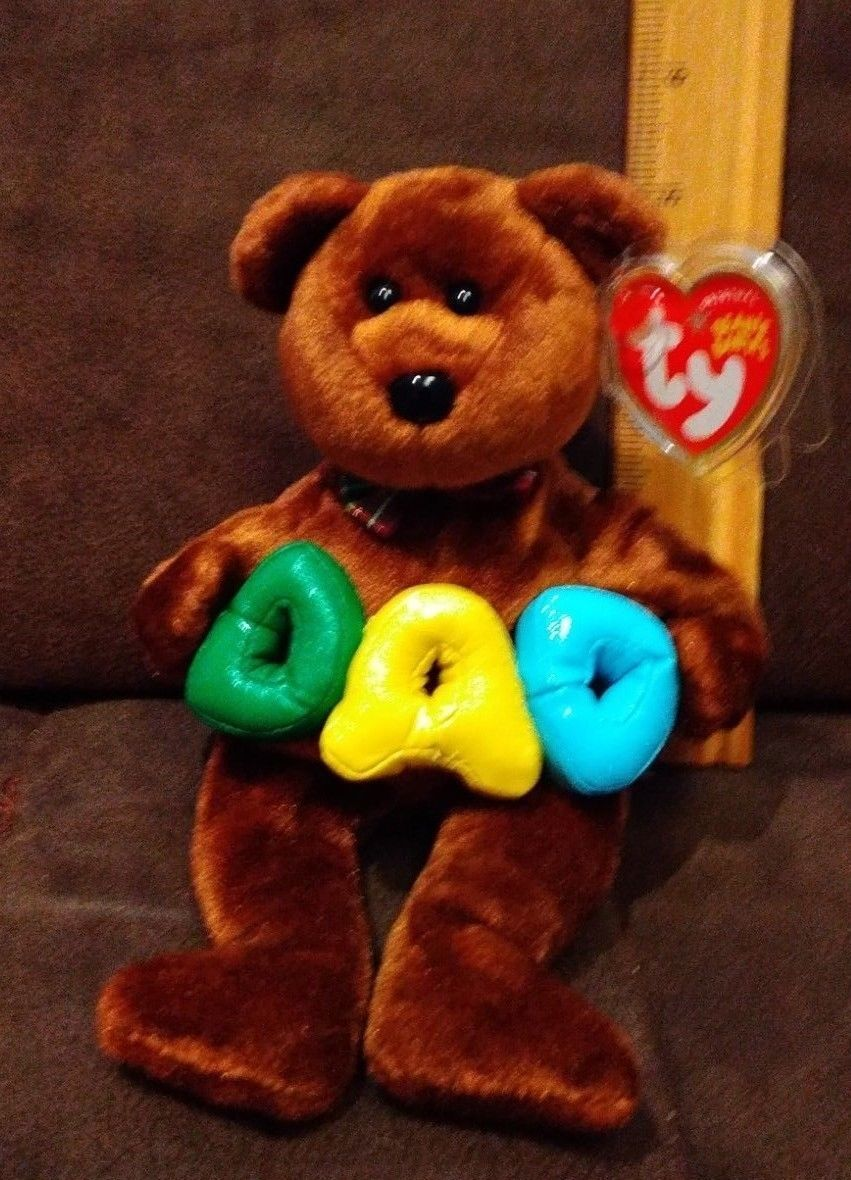 Ty Beanie Baby DAD DARK BROWN with green and 50 similar items. 57 1099f41ac985