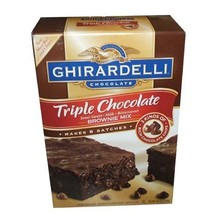 Ghirardelli Chocolate Triple Chocolate Brownie Mix 2.26kg  - $35.00
