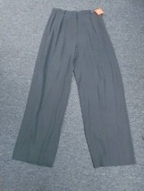 ANNE KLEIN Smoky Gray Solid Rayon Blend Pleat Front Dress Pants Size 10 ... - $29.68