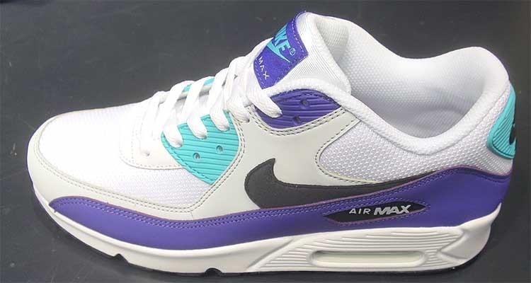 quality design 8e18f d8535 Nike Air Max 90 Essential White Black-Jade-Purple AJ1285-103