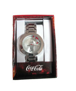 Coca-Cola Accutime Floating Crystal Contour Bottle Watch 38 mm  Silver-tone - $14.80