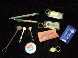 1964 New York World's Fair Rain Bonnets Sandwich Pick Button Metal Cockt... - $19.99