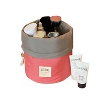 Barrel Bag Travel Organizer Bucket Shaped Cosmetic Case Drawstring Makeu... - £7.16 GBP