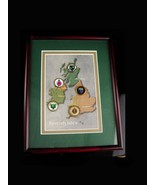 Vintage British Isles golf shadowbox frame - old style coin markers - Me... - $125.00