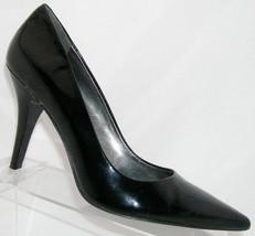 Nine West 'Madewell' black patent leather pointed toe slip on heel 8.5M ... - €28,44 EUR