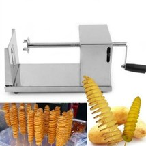 Manual Stainless Steel Spiral Potato Vegetable Fruit Slicer Tower Kitche... - €803,20 EUR